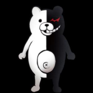 Monokuma: schwarz weißer Bär als Bösewicht