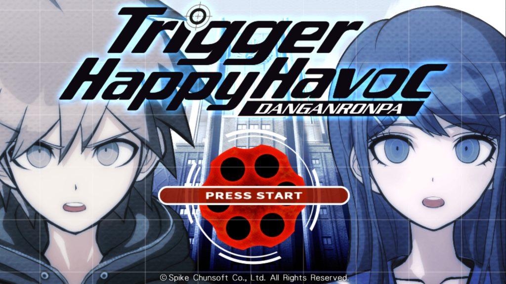 Der Startbildschirm von Danganronpa: Trigger Happy Havoc