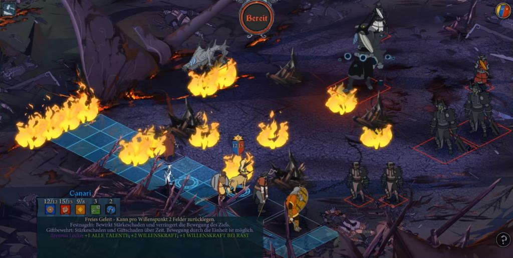 Das RPG Banner Saga Gameplay