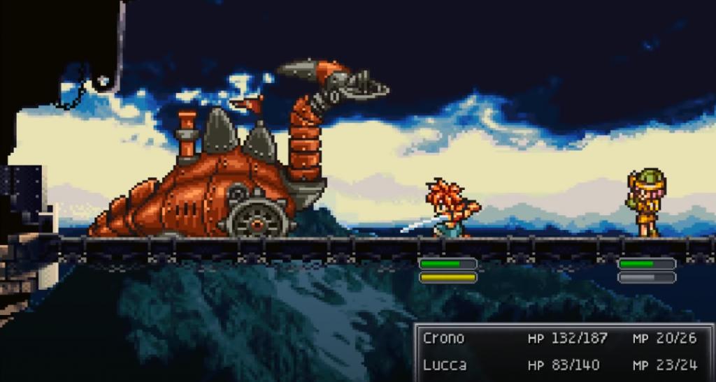 Oldschool rundenbasiertes RPG -Chrono Trigger Gameplay