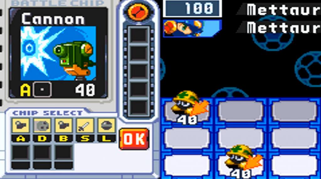 Mega Man Chip Auswahl