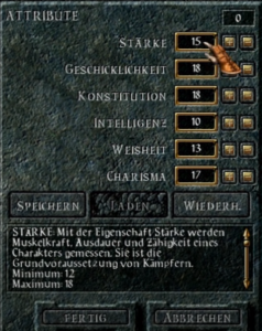Barldur's Gate: CRPG Charakter Erstellung