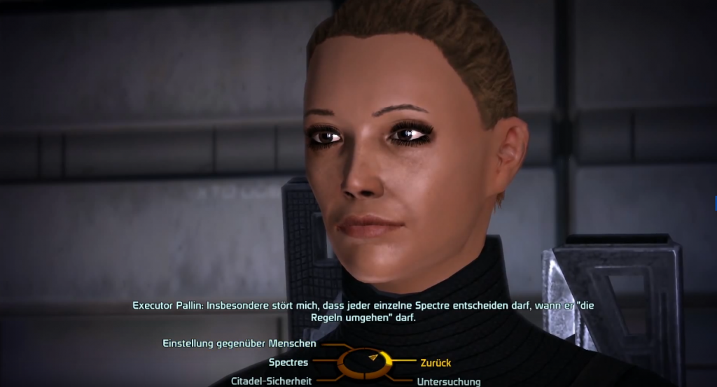 Mass Effect: Dialog Optionen