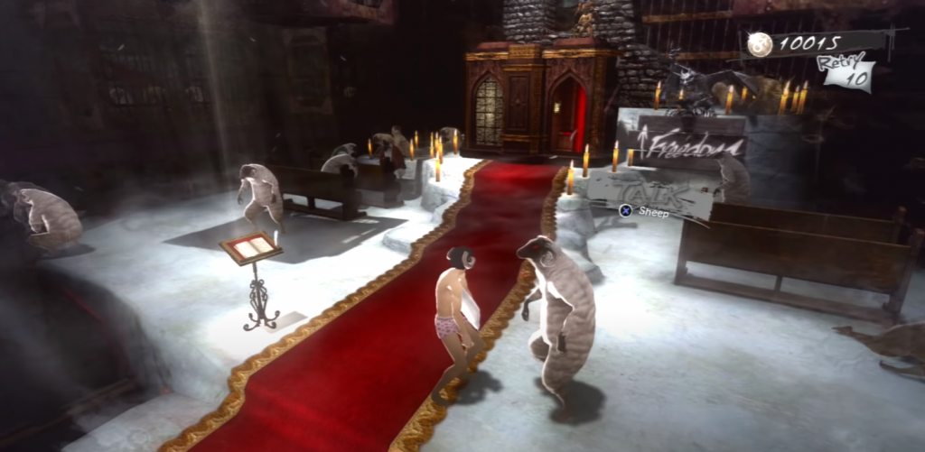 Catherine Classic: Schafe im Gameplay Hub