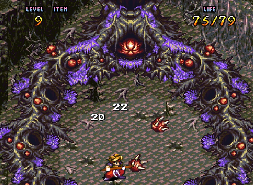 Terranigma Gameplay mit Speer