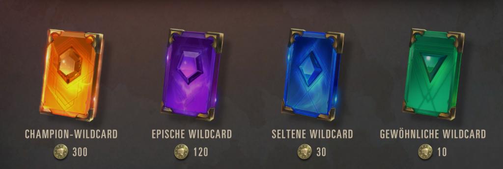 Die LoR Wildcards