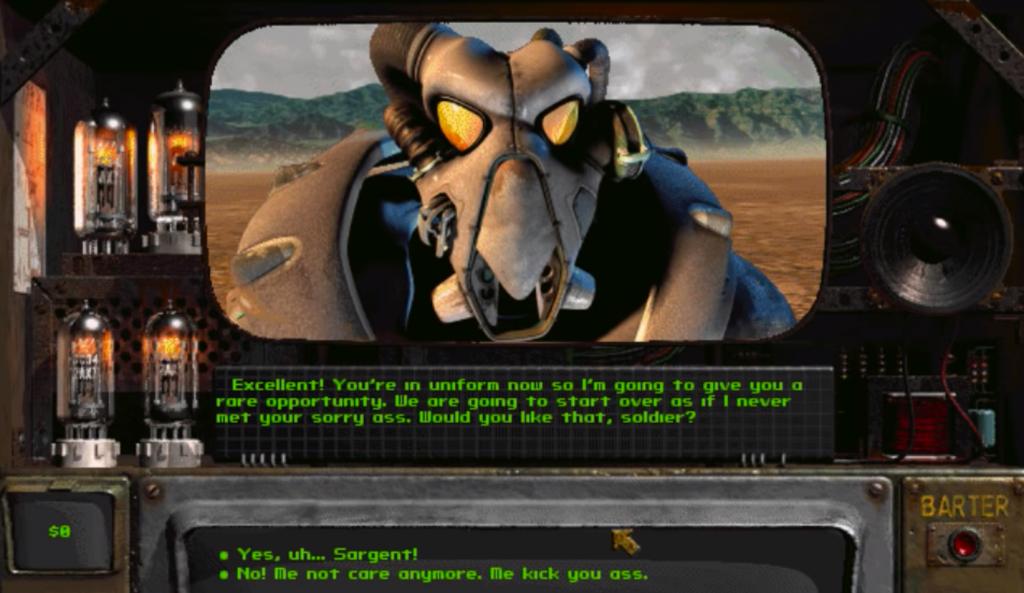 Fallout 2 CRPG Dialog